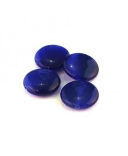Perle palet oeil de chat 15mm bleu foncé