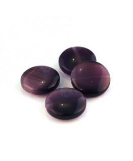 Perle palet oeil de chat 15mm violet