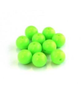 Perle acrylique 10mm vert fluo x25