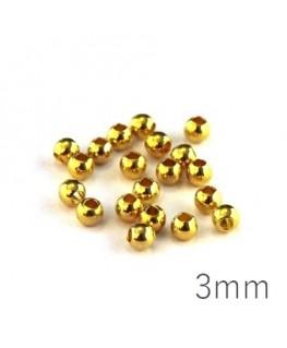 Perles métal 3mm doré x20