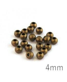 Perles métal 4mm bronze x20