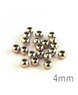 Perles métal 4mm vieil argent x20