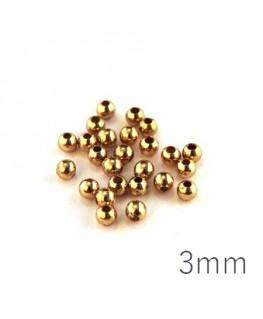 Perles métal creuses 3 mm doré