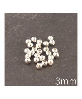 Perles métal creuses 3 mm argentés