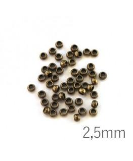 Perles à écraser 2,5 mm bronze x50