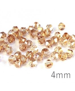 Perles toupies verre 4mm champagne x50