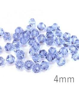 Perlse toupies verre 4mm bleuet x50