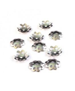 Coupelles filigranées 9mm vieil argent x50