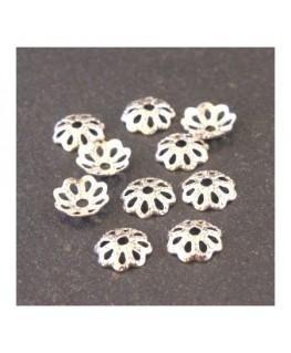 Coupelles filigranées 6mm argenté x50