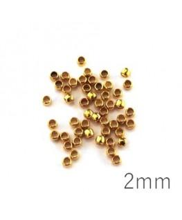 Perles à écraser 2 mm doré x50