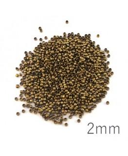 Perles à écraser 2mm bronze x1000