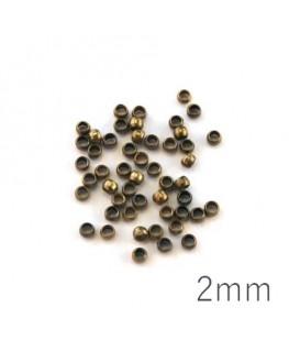 Perles à écraser 2 mm bronze x50