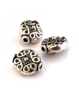 2 Perles intercalaire en métal 12mm