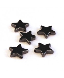 Perles étoile hématite 10mm