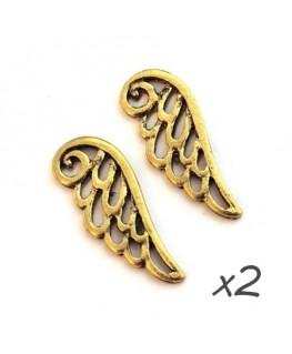 Breloque aile d'ange doré 24mm