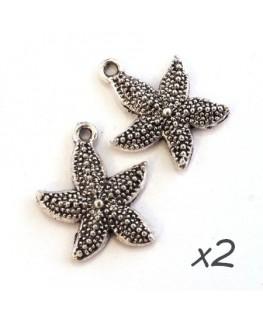 Breloques étoile de mer argent 23mm