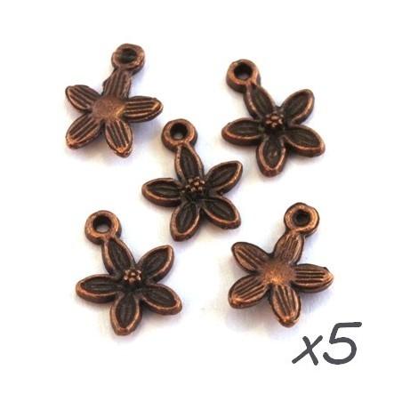 Breloques fleur cuivre