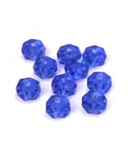 Perle rondelle à facettes 6mm bleu