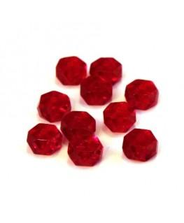 Perle rondelle à facettes 6mm rouge