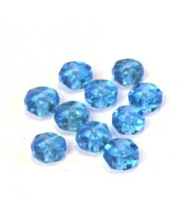 Perle rondelle à facettes 6mm turquoise