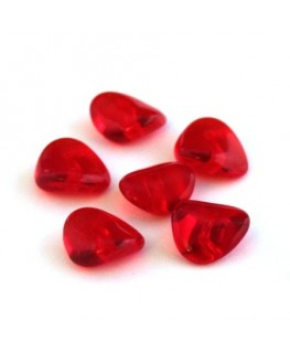 Perles pagode rondelle verre rouge