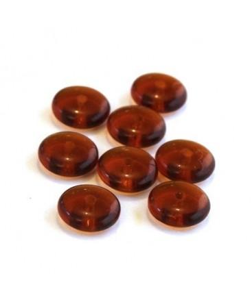Perles rondelles en verre 8mm topaze fumé