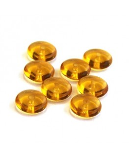 Perles rondelles en verre 8mm topaze