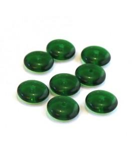 Perles rondelles en verre 8mm vert émeraude