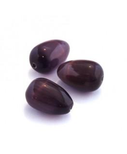 Perle goutte oeil de chat violet