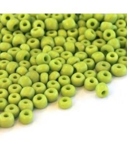 Perles de rocailles 4mm vert clair opaque