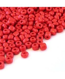 Perles de rocailles 4mm rouge opaque