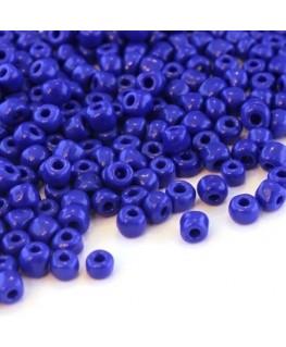 Perles de rocailles 4mm bleu foncé opaque
