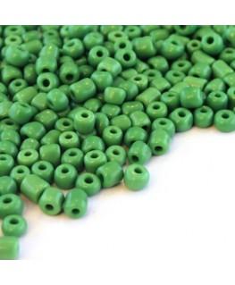 Perles de rocailles 4mm vert foncé opaque