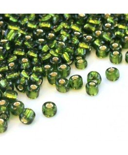 Perles de rocailles 4mm vert forêt