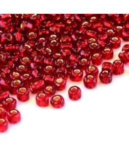 Perles de rocailles 4mm rouge siam