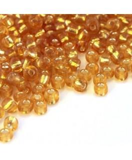 Perles de rocailles 4mm miel doré