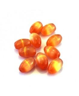 Olive œil de chat 8mm orange x10