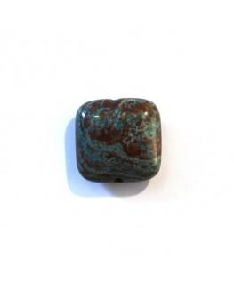 Perle carrée 12mm jaspe russe x1