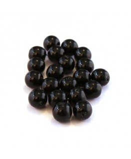 Perles verre nacrées 6mm noir