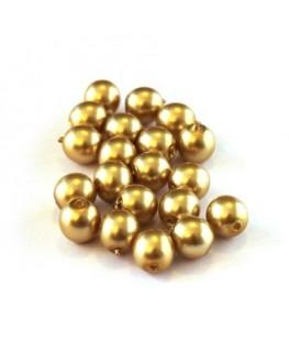 Perles verre nacrées 6mm or