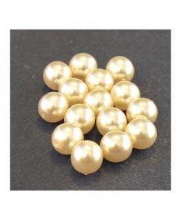 Perles en verre nacrées 8mm champagne