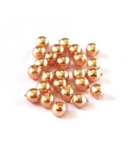 Perles en verre nacrées 4mm pêche
