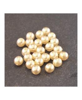 Perles en verre nacrées 4mm champagne