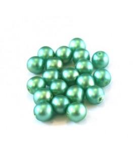 Perles nacrées givrées 6mm menthe à l'eau
