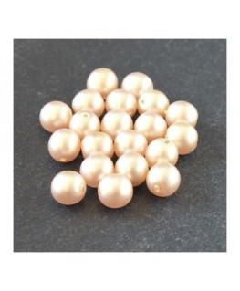 Perles nacrées givrées 6mm crème