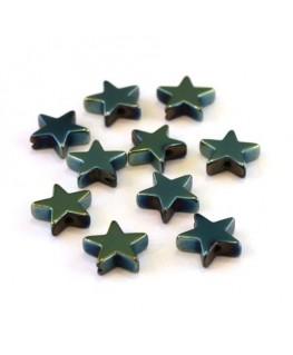Perles hématite étoiles vert 8mm