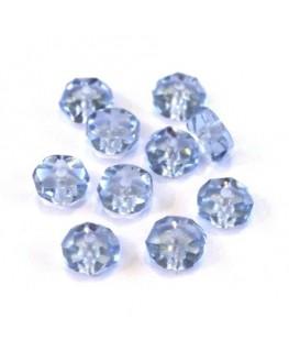 Perle rondelle à facettes 6mm bleu clair