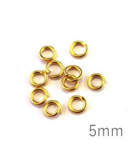 Anneaux 5mm dorées