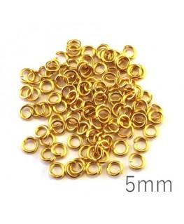Anneaux 5mm dorés x100