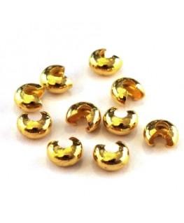 Caches perles à écraser 4mm doré